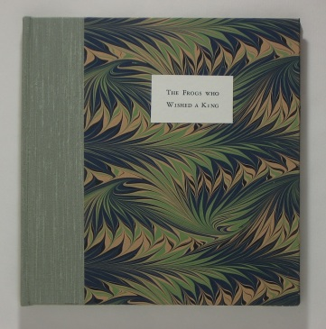 Cover of The Frogs Who Wished A King by Aesop, versified by Clara Dotty Bates.