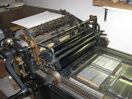 "Printing ""The Intruder"" on the Vandercook OS 219"