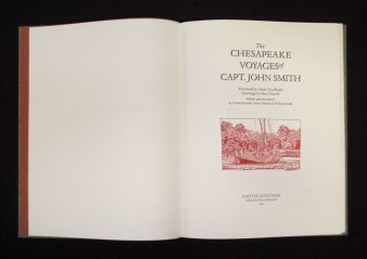 Title page to The Chesapeake Voyages of Captain John Smith
