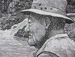 detail wood engraving by Jim Westergard