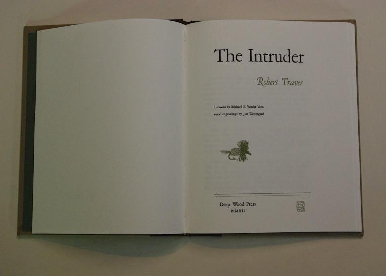 """the Intruder"" title page spread."