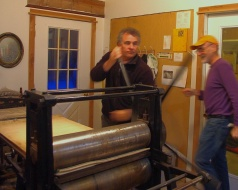 Jerry takes a turn at the intaglio press