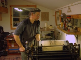 Cranking the Vandercook