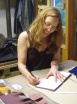 Sigrid signs the books
