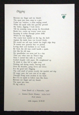 Digging, by Seamus Heaney