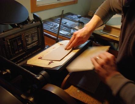 Printing on the 8x12 C&P