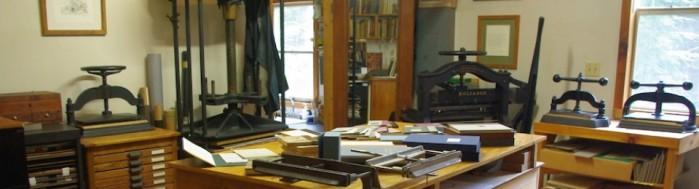 The bindery room