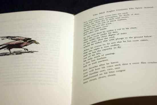 """Dancing Crow"" wood engraving detail"